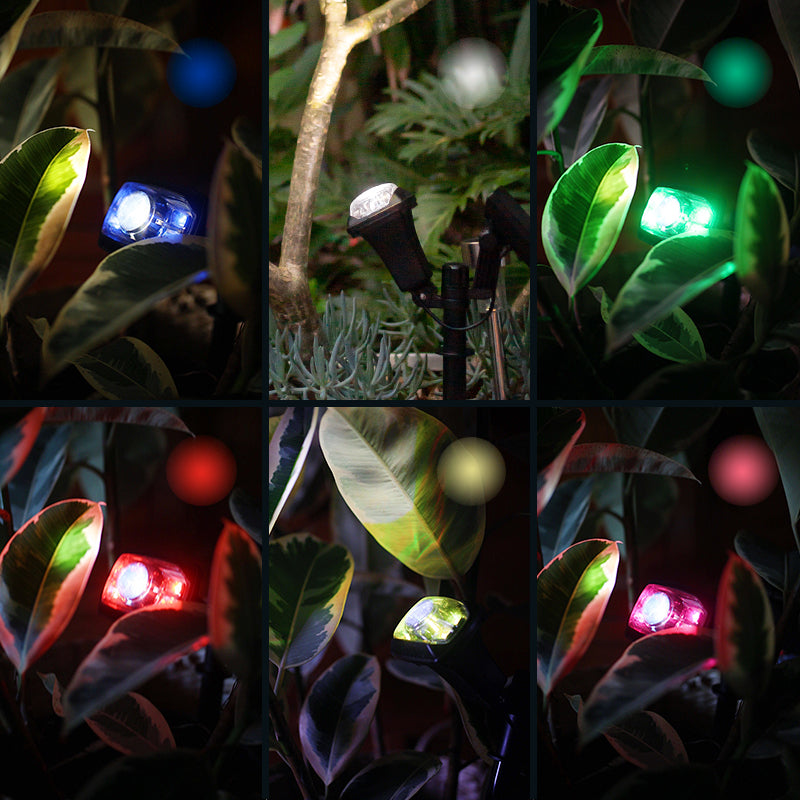 Multi-coloured Solar Garden Spot Light 5LED