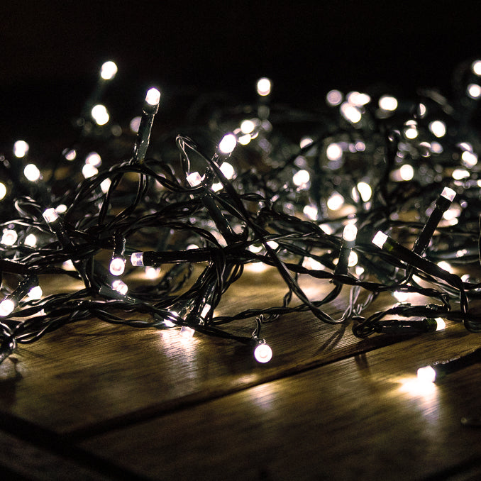 Warm White Solar Garden Fairy Party Lights 150 LEDs 15m