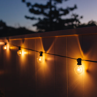 Warm White Solar Party Bulb String Lights - 25 Bulb Starter Set