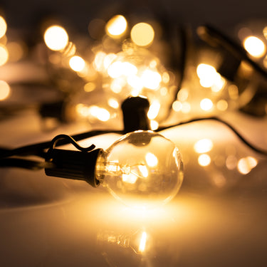 Warm White Solar Party Bulb String Lights - 25 Bulb Extension