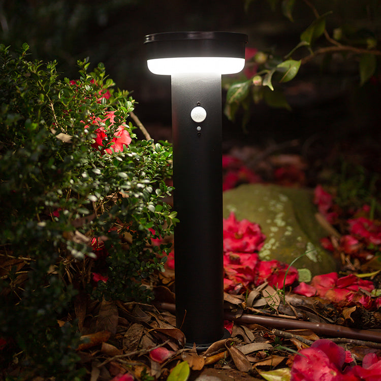 Modern Solar Garden Bollard Light with Motion Sensor 40LED