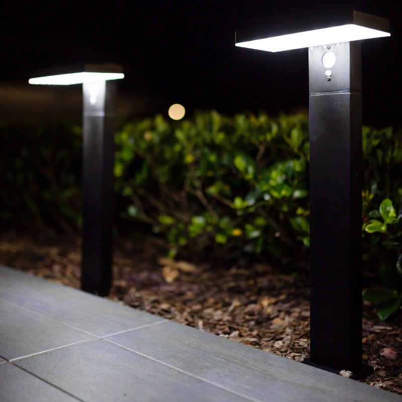 Contemporary Solar Garden Bollard Light with Motion Sensor 48LED – 2 Pack