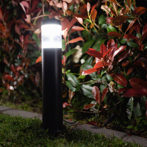 Cool White Solar Garden 3 Bollard Path Lights 40LED