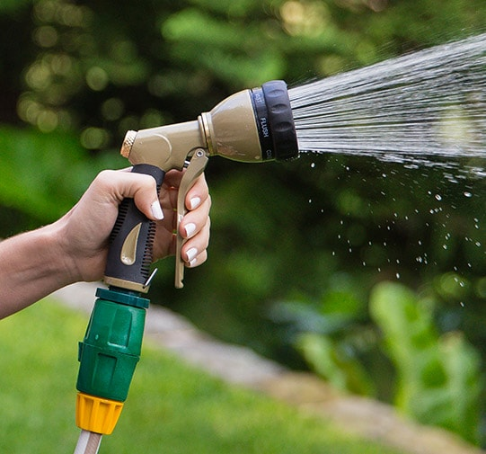 Spray Gun Spraying Water