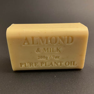 200g Pure Natural Plant Oil Soap - Almond & Milk