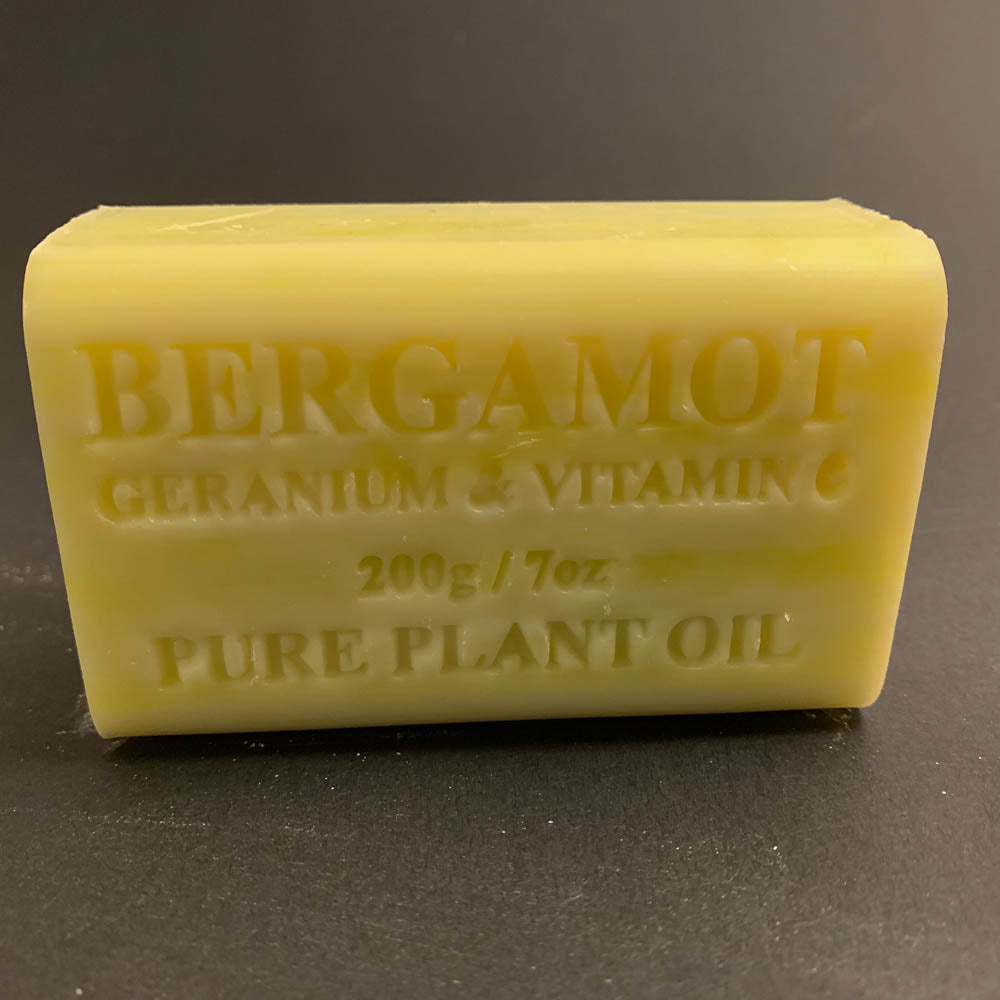 200g Pure Natural Plant Oil Soap - Bergamont, Geranium and Vitamin E