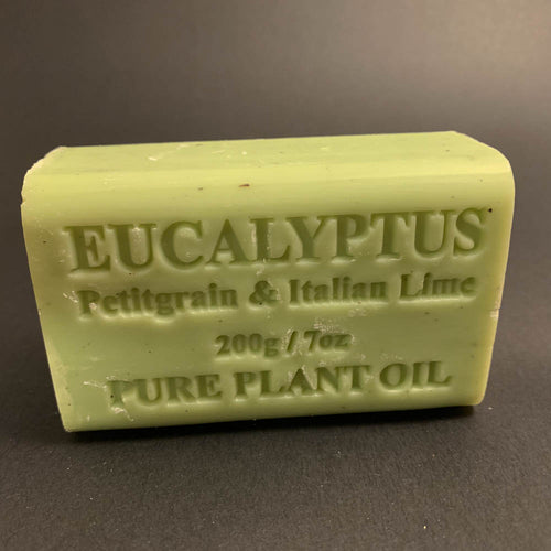 200g Pure Natural Plant Oil Soap - Eucalyptus, Petitgrain and Italian Lime
