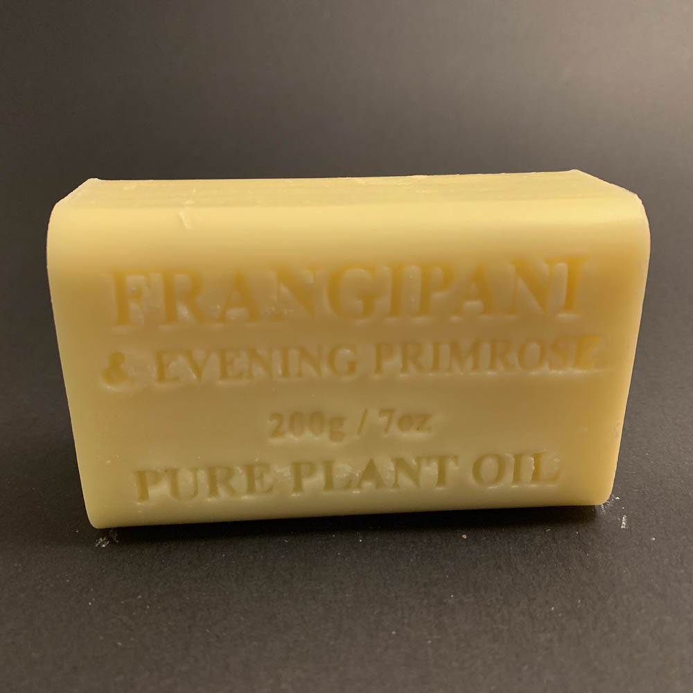200g Pure Natural Plant Oil Soap - Frangipani & Evening Primrose