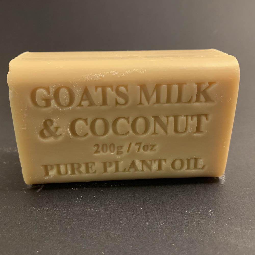 200g Pure Natural Plant Oil Soap - Goats Milk & Coconut