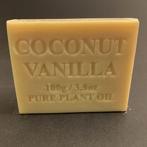 100g Pure Natural Plant Oil Soap - Coconut Vanilla