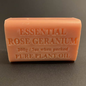 200g Pure Natural Plant Oil Soap - Essential Rose Geranium