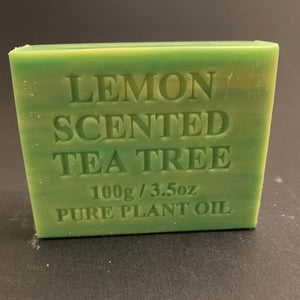 100g Pure Natural Plant Oil Soap - Lemon Scented Tea Tree