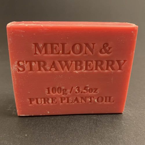 100g Pure Natural Plant Oil Soap - Melon & Strawberry