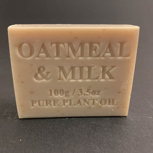 100g Pure Natural Plant Oil Soap - Oatmeal & Milk