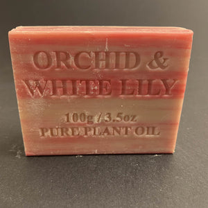 100g Pure Natural Plant Oil Soap - Orchid & White Lily