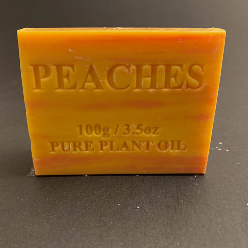 100g Pure Natural Plant Oil Soap - Peaches
