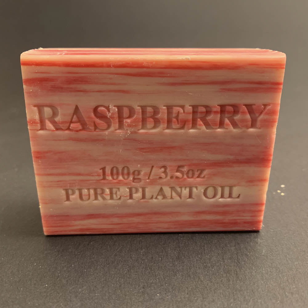 100g Pure Natural Plant Oil Soap - Raspberry
