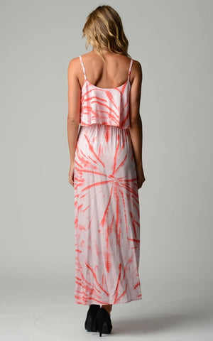 Women's Printed Tie Dye Maxi Dress