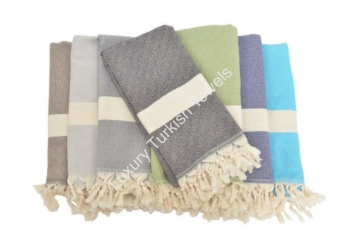 Diamond Turkish Towel - Green
