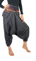 Cotton Drop Crotch Women Tribal Boho Pants Hippie