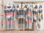 Bohemian Turkish Bathrobes, 2 Colors, Hand Loomed, 100% Cotton, Eco Friendly, Cozy home and morning robes,El Patito best seller