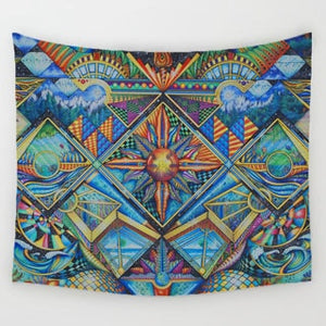 Geometric Irregular Hippie Mandala Pattern