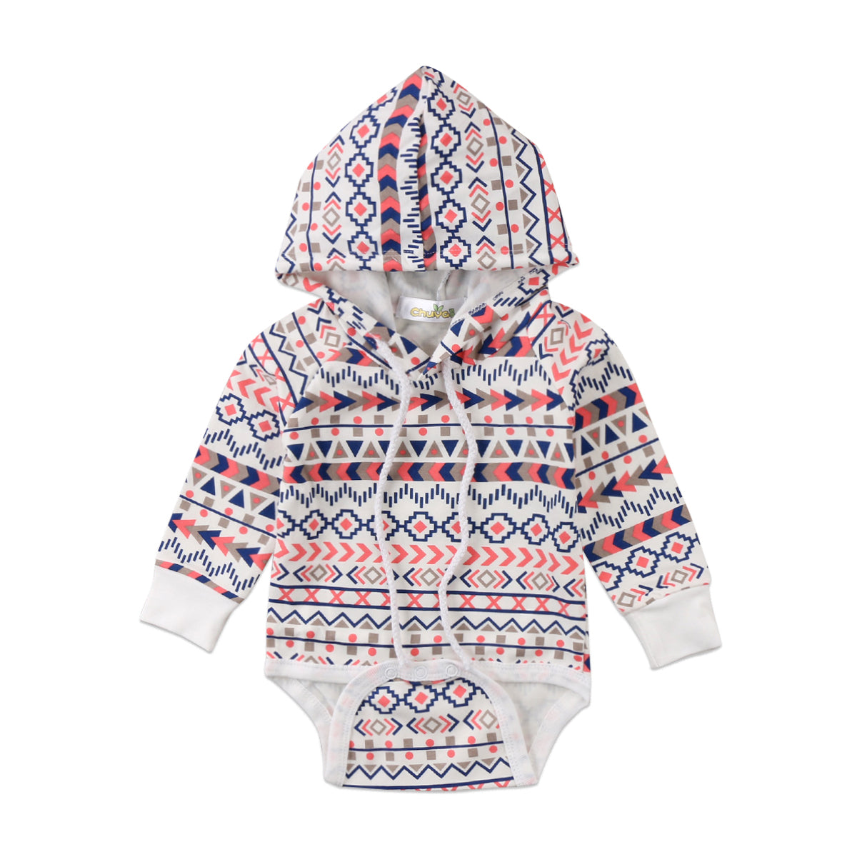 Pudcoco New Baby Boys Girls Cotton Romper Toddler Loose Boho Hoodie Hooded Romper Jumpsuit Clothes Outfits Set