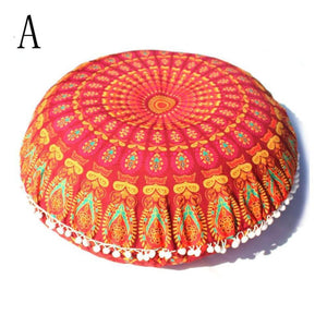 Mandala Floor Round Pillow Cover Indian Tapestry Bohemian Throw Cover