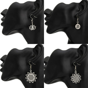 Flower Of Life Religious Earring Jewelry