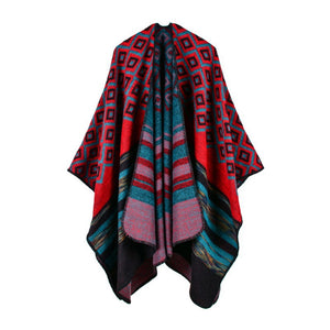 Women Long Scarves Diamond Shawl Poncho Cape Pashmina Wrap Scarf