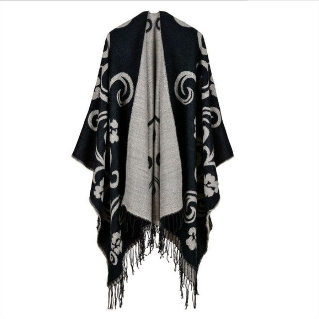 SupSindy women's poncho Winter scarf capes