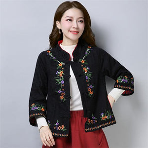 Embroidered jacket boho chic hippie clothing