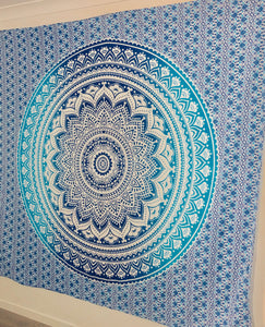 Blue Mandala - Wall Tapestry