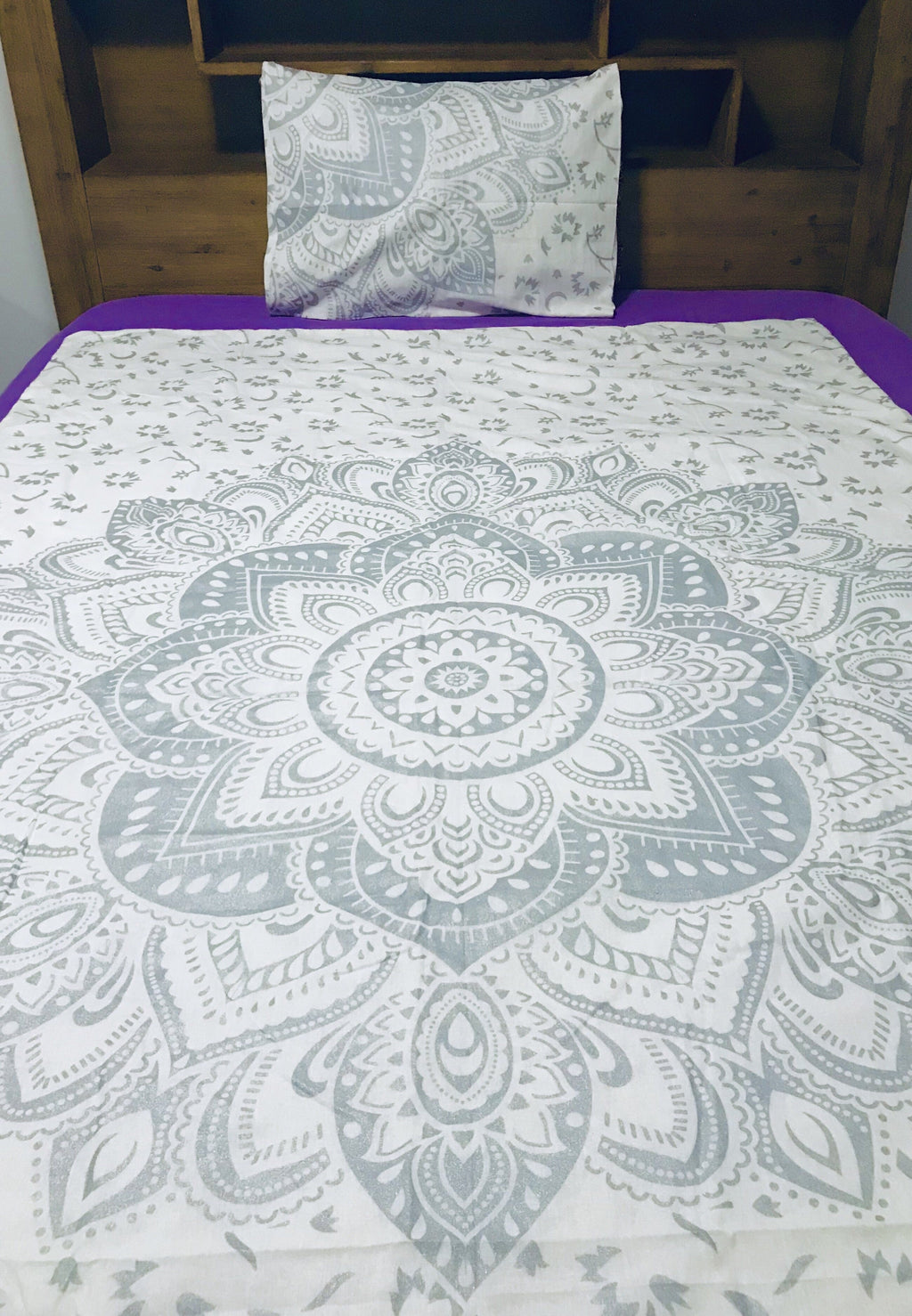 Silver Flower - Single Doona Cover Set