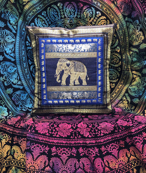 Blue Elephant Cushion