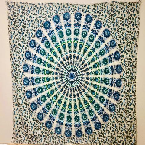 Blue Peacock Tapestry.my-bohemian.myshopify.com