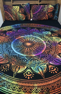 Rainbow Flower - King Doona Cover Set