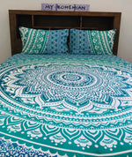 Aqua Mandala - King Doona Cover Set