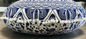 Blue Passion Floor Cushion.my-bohemian.myshopify.com