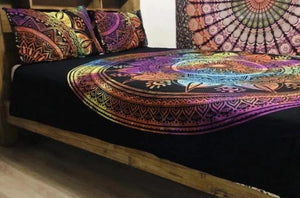 Rainbow Flower - Queen Doona Set.my-bohemian.myshopify.com