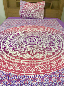 Pink Mandala - Single Doona Cover Set