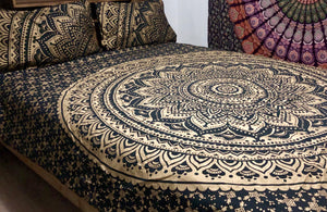 Gold Mandala - Queen Doona Cover Set