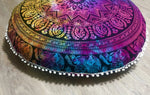 Rainbow Elephant Floor Cushion.my-bohemian.myshopify.com