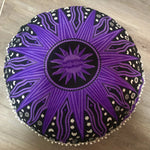 Purple Star Floor Cushion.my-bohemian.myshopify.com