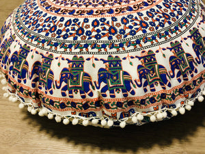 Orange Blend Floor Cushion.my-bohemian.myshopify.com