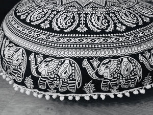 Elephant Trail Floor Cushion.my-bohemian.myshopify.com