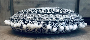 Black & White Mandala Cushion.my-bohemian.myshopify.com