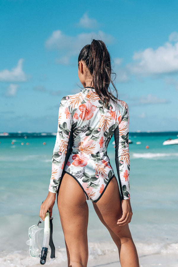 Surfer Black floral