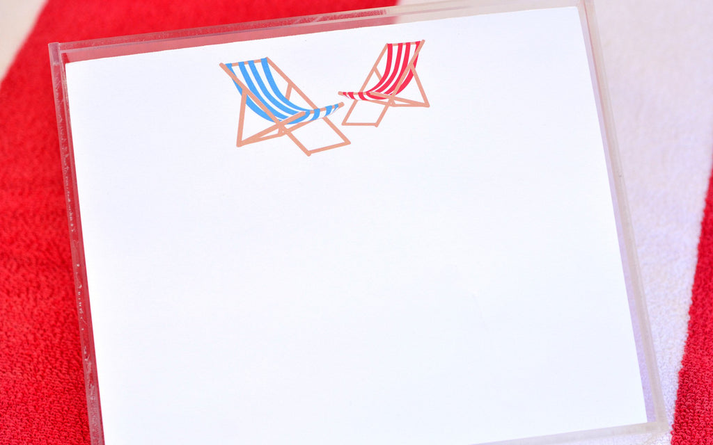 Luxe Expressions Notepad - Beach Chairs