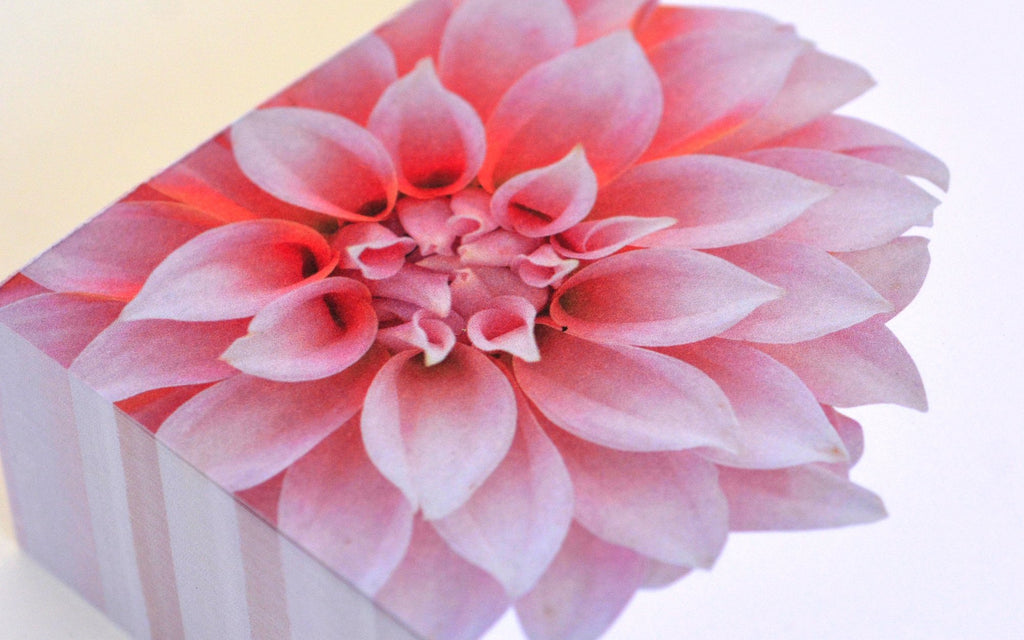 Luxe Botanicals Notepad - Pink Dahlia